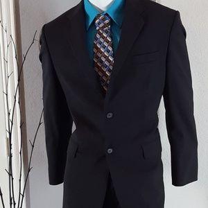 Express Men's Wool Black Blazer Sport Coat 42R